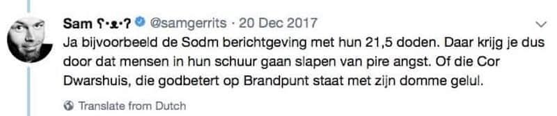 Over Sam Gerrits (Follow The Money), gaswinning en aardbevingen in Groningen, en Sam's gedrag op social media